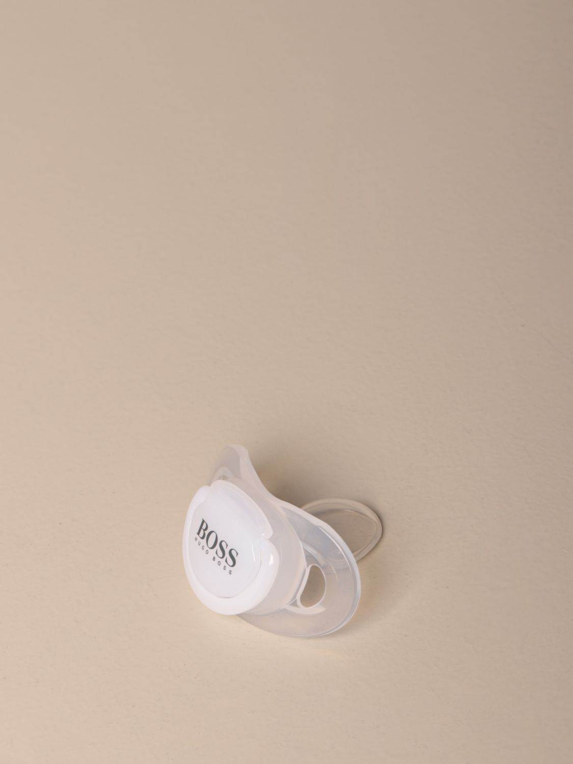 Pacifier Hugo Boss: Hugo Boss silicone pacifier with logo white 1