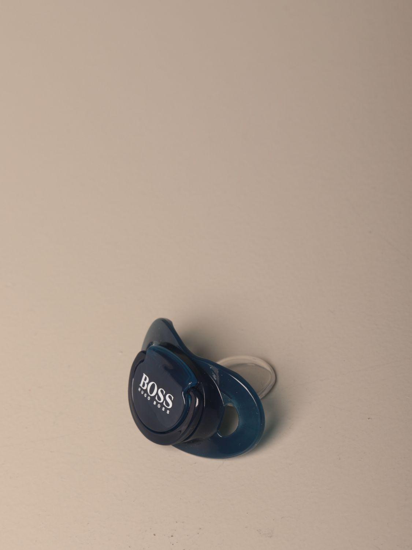 Pacifier Hugo Boss: Hugo Boss silicone pacifier with logo blue 1