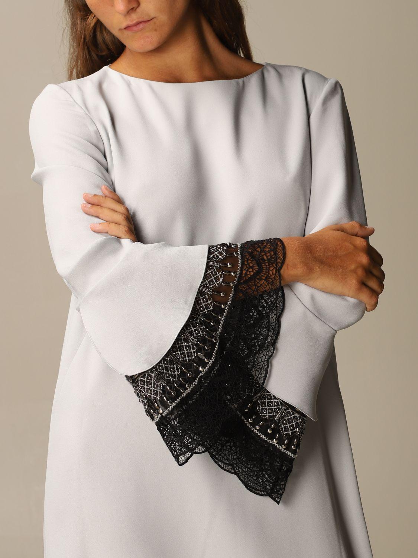 Robes Alberta Ferretti: Robes femme Alberta Ferretti gris 4