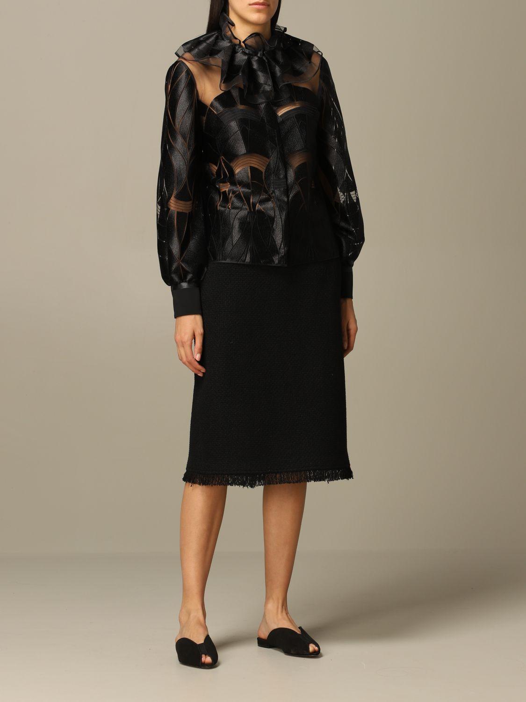 Blazer Alberta Ferretti: Blazer women Alberta Ferretti black 2