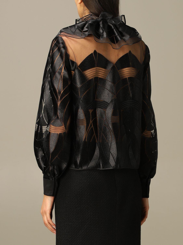 Blazer Alberta Ferretti: Blazer women Alberta Ferretti black 3