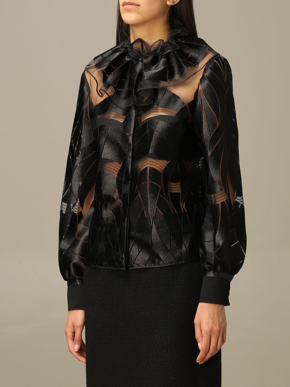 Blazer Alberta Ferretti: Blazer women Alberta Ferretti black 4