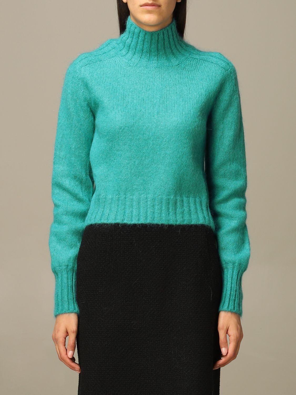 Sweater Alberta Ferretti: Sweater women Alberta Ferretti gnawed blue 1