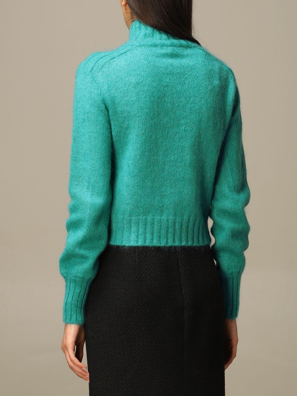 Sweater Alberta Ferretti: Sweater women Alberta Ferretti gnawed blue 3