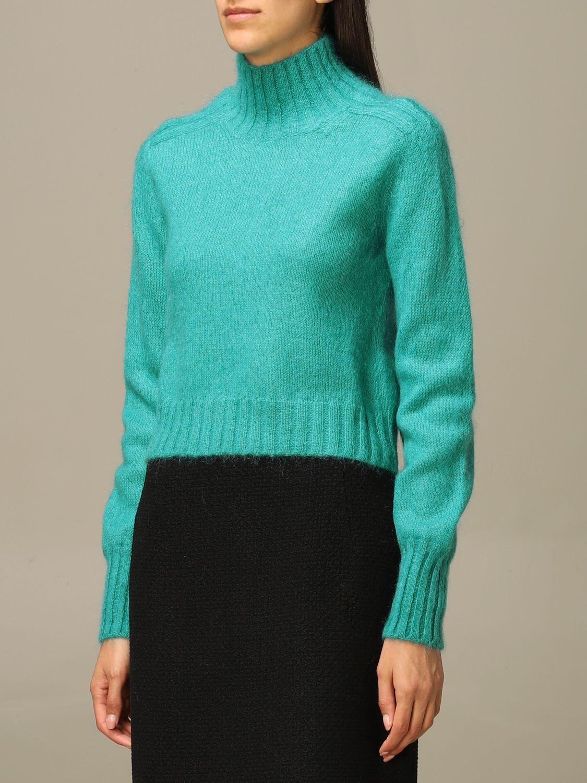 Sweater Alberta Ferretti: Sweater women Alberta Ferretti gnawed blue 4