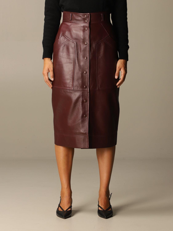 Skirt Alberta Ferretti: Skirt women Alberta Ferretti burgundy 1