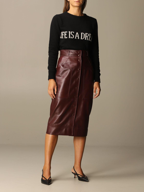 Skirt Alberta Ferretti: Skirt women Alberta Ferretti burgundy 2