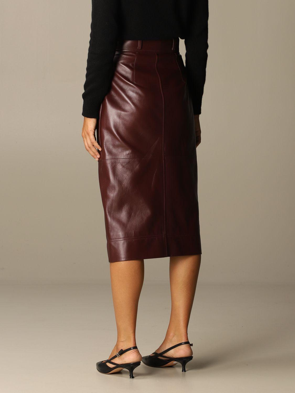 Skirt Alberta Ferretti: Skirt women Alberta Ferretti burgundy 3