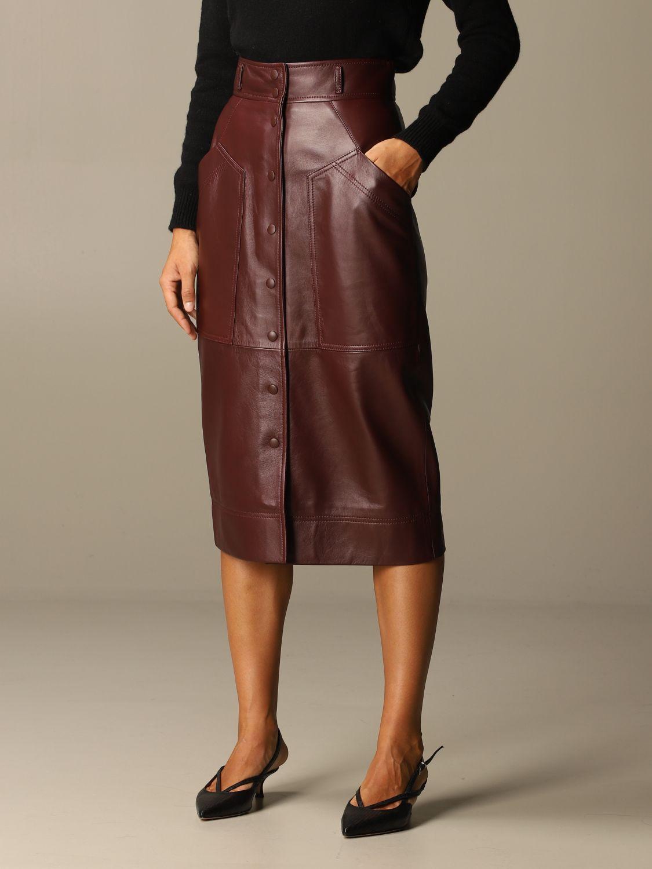 Skirt Alberta Ferretti: Skirt women Alberta Ferretti burgundy 4
