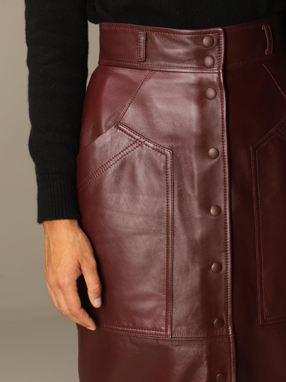 Skirt Alberta Ferretti: Skirt women Alberta Ferretti burgundy 5