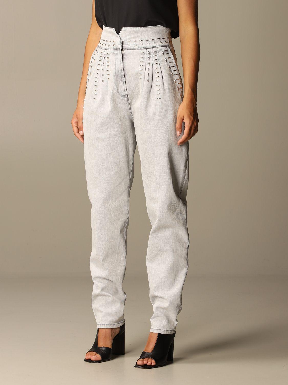 Jeans Alberta Ferretti: Jeans femme Alberta Ferretti gris 4