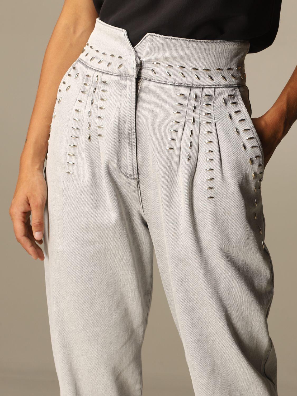 Jeans Alberta Ferretti: Jeans femme Alberta Ferretti gris 5