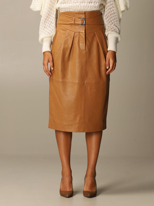 Skirt Alberta Ferretti: Skirt women Alberta Ferretti leather 1
