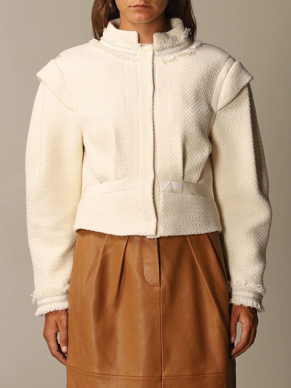 Blazer Alberta Ferretti: Blazer femme Alberta Ferretti jaune crème 1