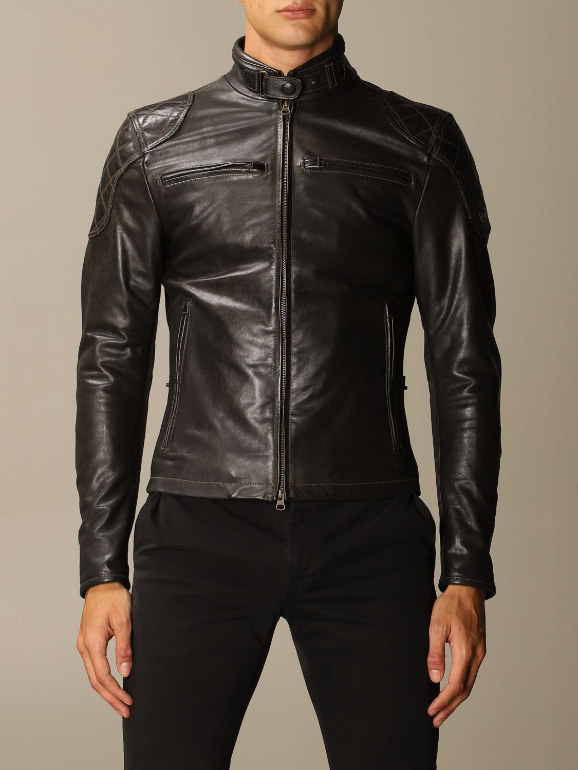 Giacca Matchless: Osborne quilted blouson pelle nero 1