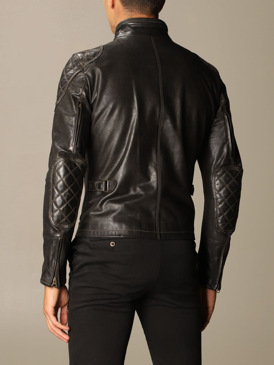 Giacca Matchless: Osborne quilted blouson pelle nero 2