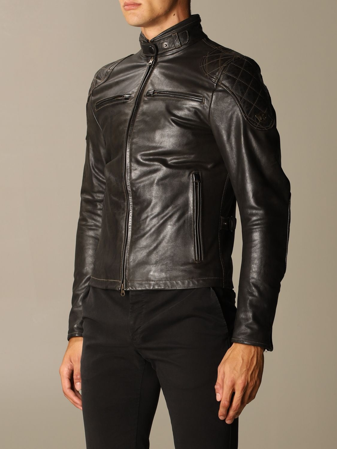 Giacca Matchless: Osborne quilted blouson pelle nero 3