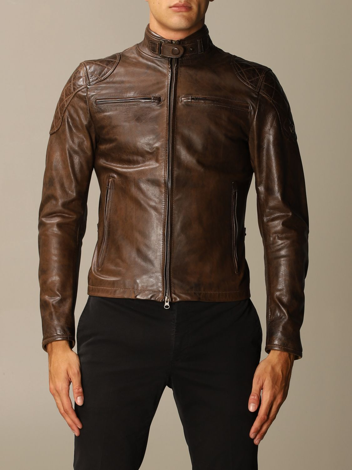 Giacca Matchless: Osborne quilted blouson pelle moro 1