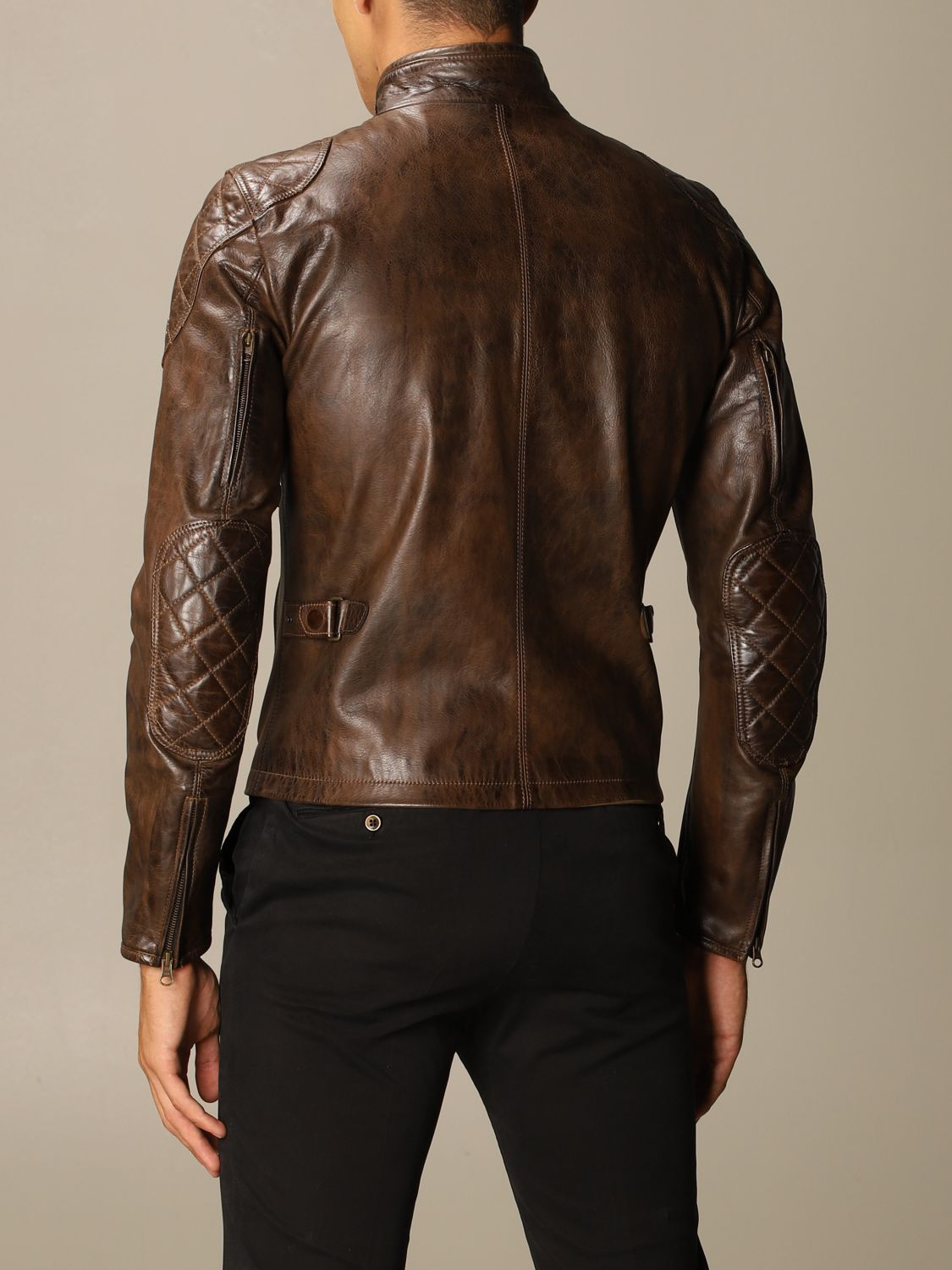 Giacca Matchless: Osborne quilted blouson pelle moro 2