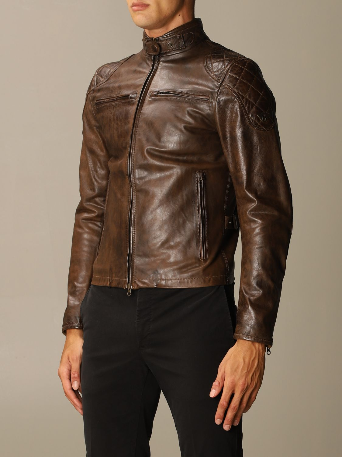 Giacca Matchless: Osborne quilted blouson pelle moro 3