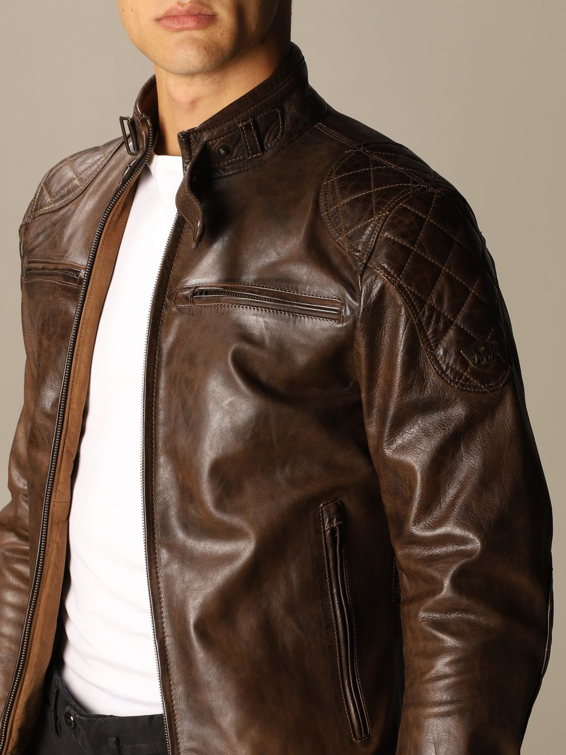 Giacca Matchless: Osborne quilted blouson pelle moro 4