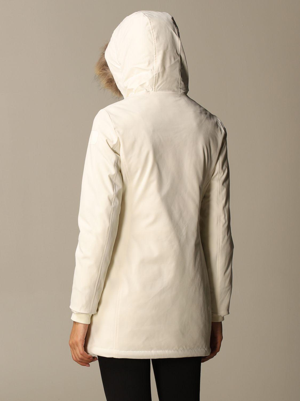 Giacca Museum: Lady ontario parka con cappuccio e pelliccia bianco 2