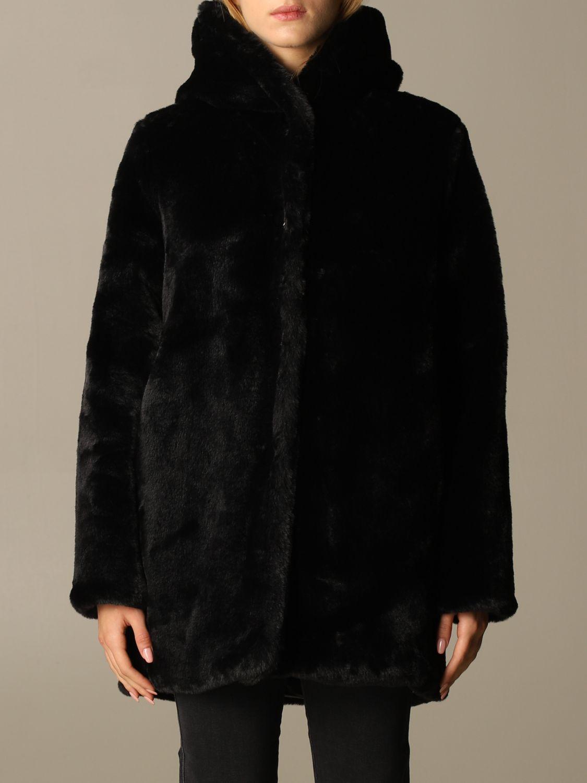 皮草 Oof Wear: 大衣 女士 Oof Wear 黑色 1
