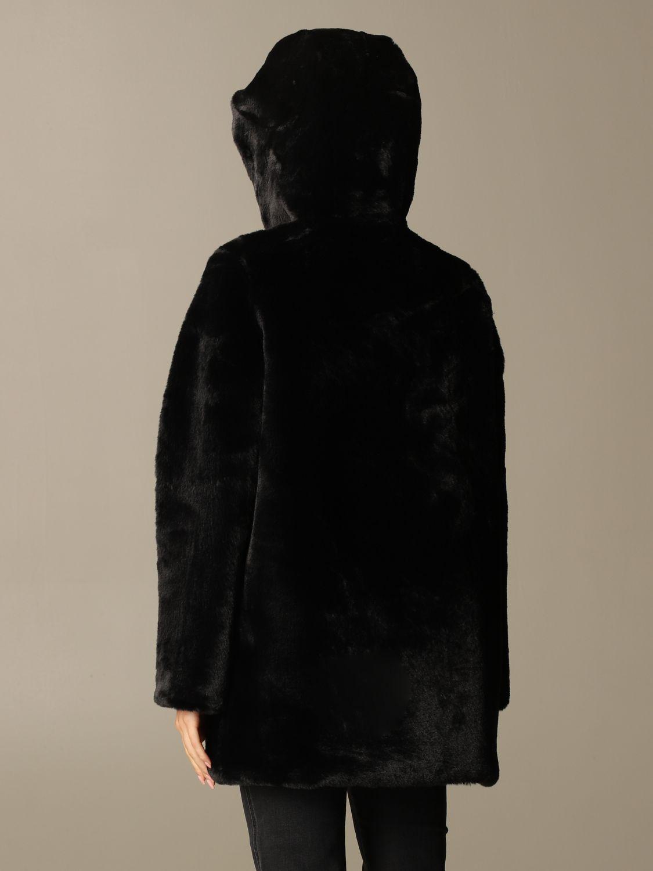 皮草 Oof Wear: 大衣 女士 Oof Wear 黑色 2