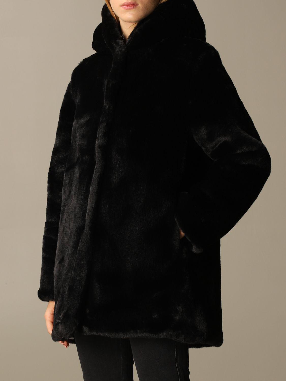 皮草 Oof Wear: 大衣 女士 Oof Wear 黑色 3