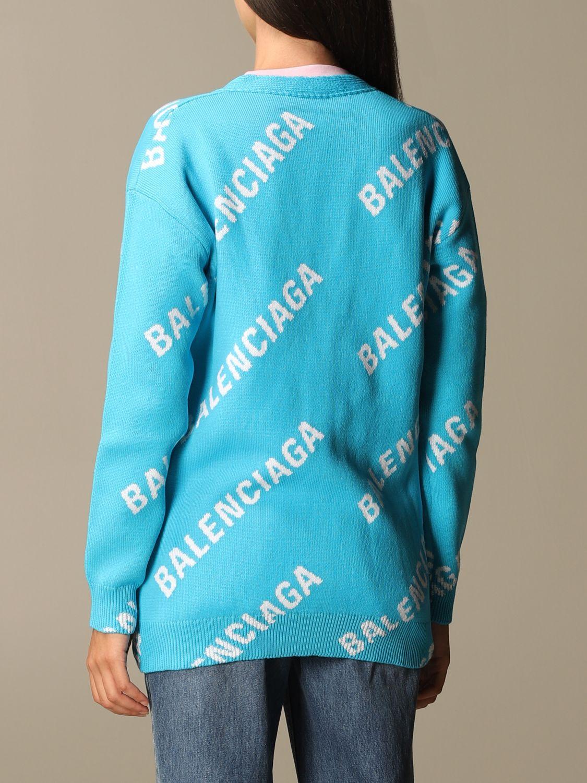 Jumper Balenciaga: Jumper women Balenciaga gnawed blue 2