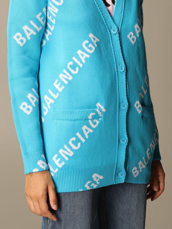 Jumper Balenciaga: Jumper women Balenciaga gnawed blue 4