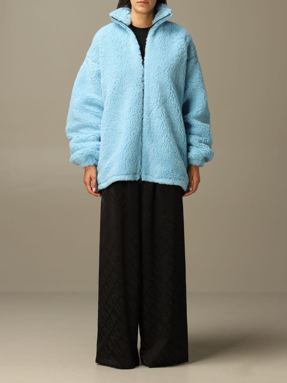 Jacket Balenciaga: Jacket women Balenciaga gnawed blue 1