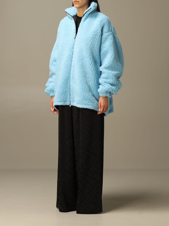 Jacket Balenciaga: Jacket women Balenciaga gnawed blue 4