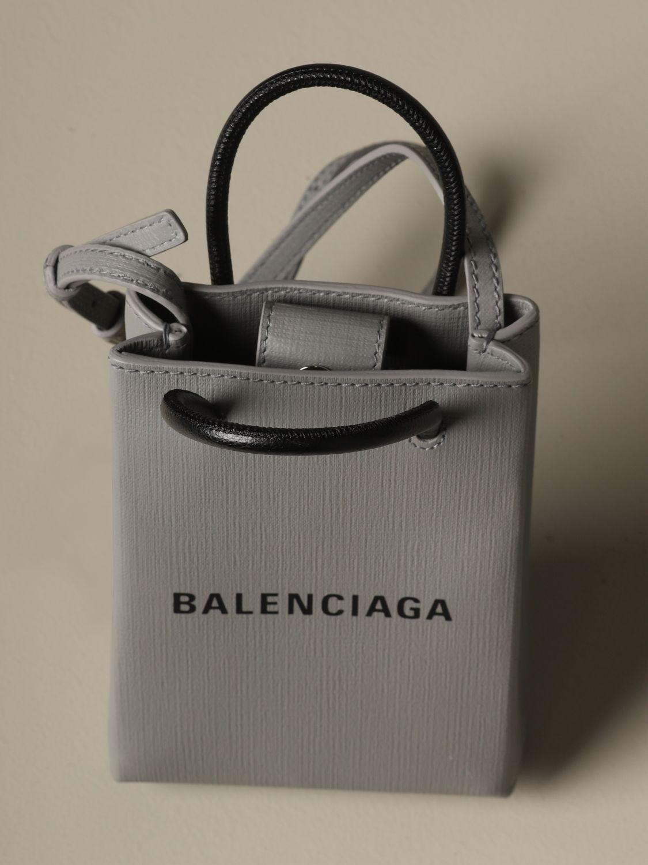 Mini bag Balenciaga: Shoulder bag women Balenciaga grey 5