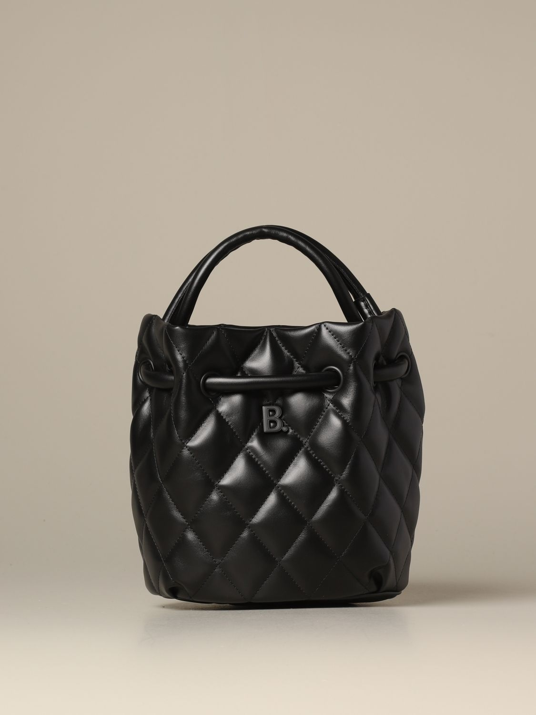 Balenciaga Bucket Bag In Matelasse Leather Handbag Balenciaga Women Black Handbag Balenciaga 600327 1wn17 Giglio En