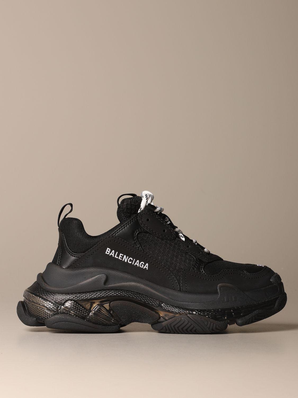 Sneaker Triple S Clear Sole Noir pour Femme | Balenciaga