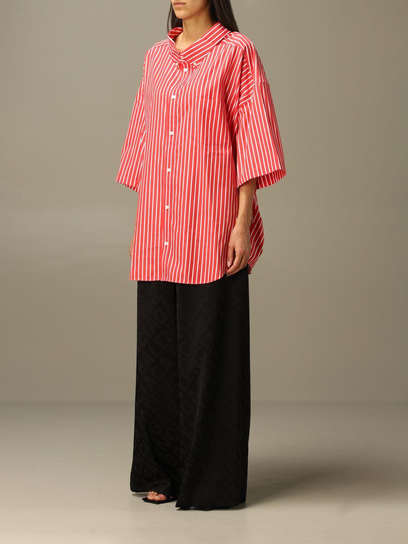 Shirt Balenciaga: Shirt women Balenciaga red 2