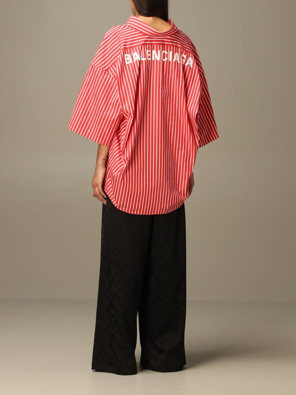 Shirt Balenciaga: Shirt women Balenciaga red 3