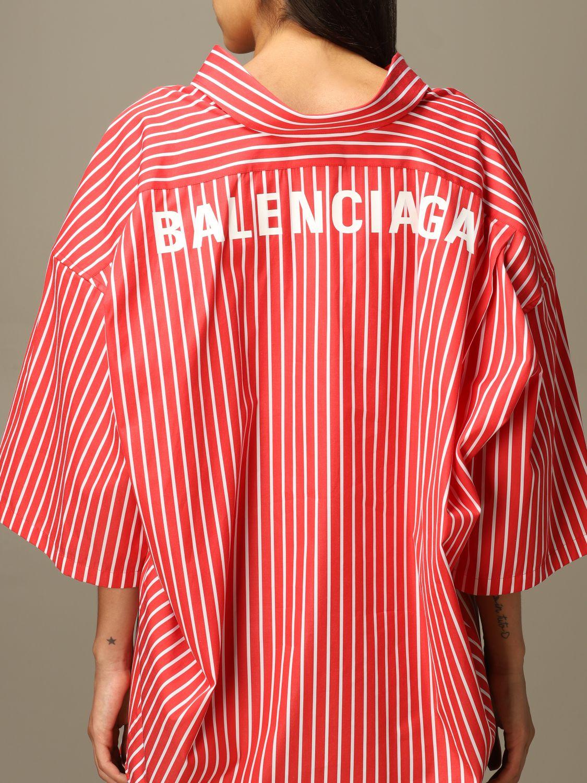 Shirt Balenciaga: Shirt women Balenciaga red 4