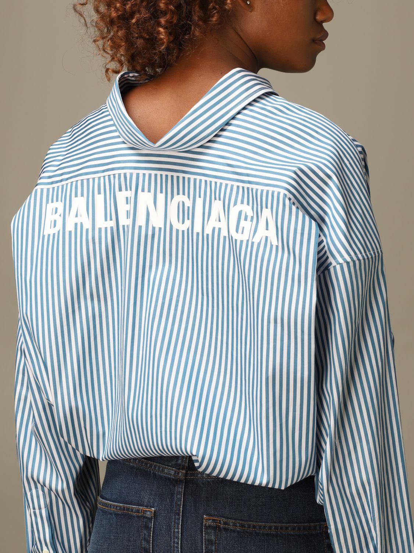 Shirt Balenciaga: Shirt women Balenciaga green 5