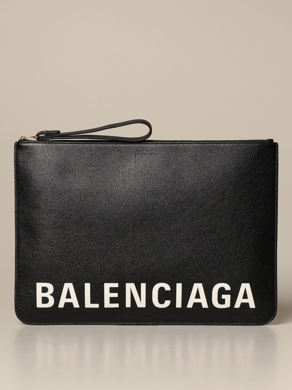 Clutch Balenciaga: Shoulder bag women Balenciaga black 1