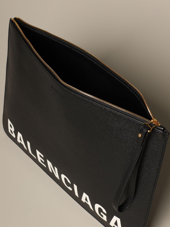 Clutch Balenciaga: Shoulder bag women Balenciaga black 4