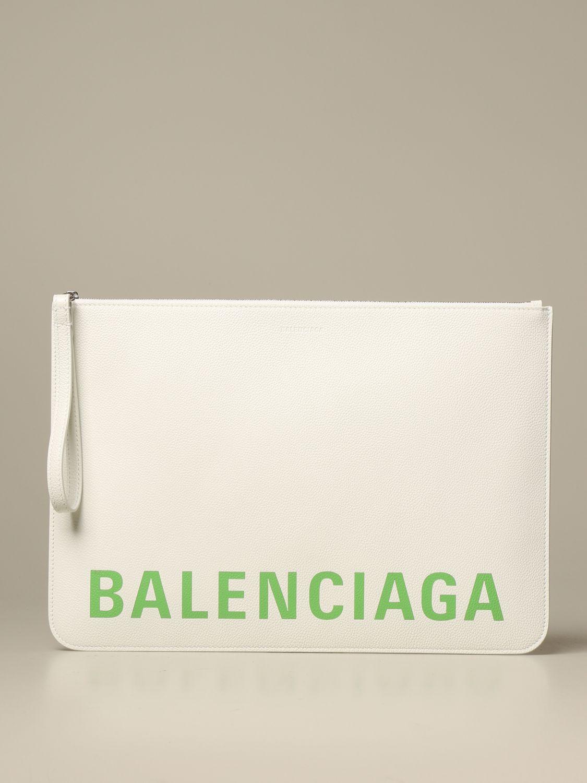 Clutch Balenciaga: Shoulder bag women Balenciaga white 1