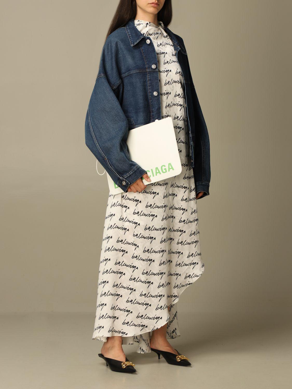 Clutch Balenciaga: Shoulder bag women Balenciaga white 2