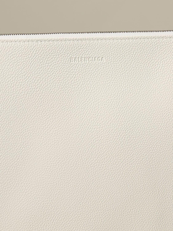 Clutch Balenciaga: Shoulder bag women Balenciaga white 4