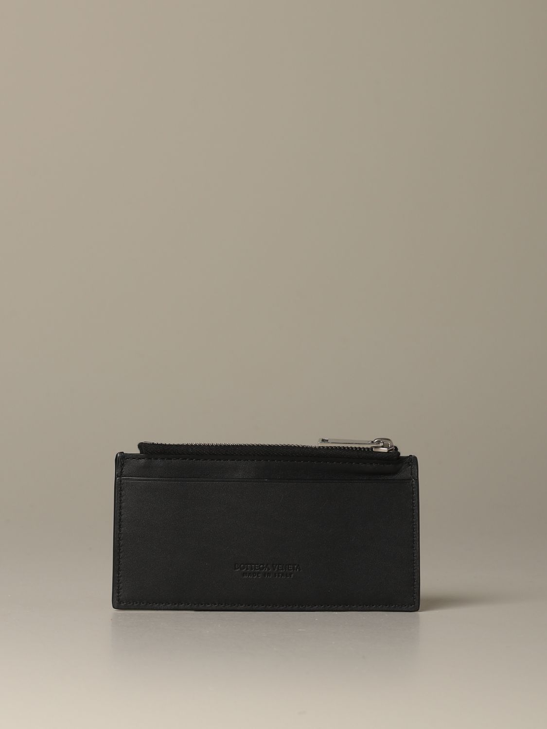 Wallet Bottega Veneta: Bottega Veneta credit card holder in woven leather 1.5 black 2