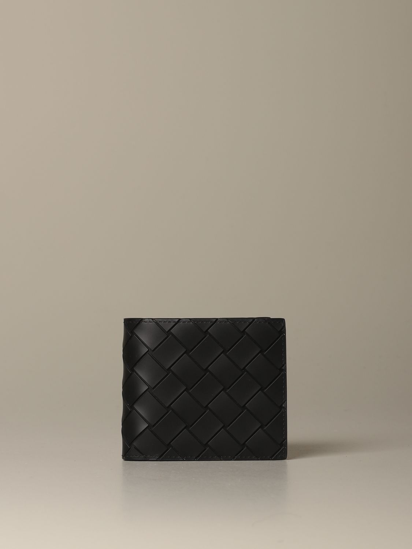 Wallet Bottega Veneta: Bottega Veneta wallet in woven rubber black 1
