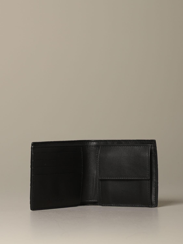 Wallet Bottega Veneta: Bottega Veneta wallet in woven rubber black 2