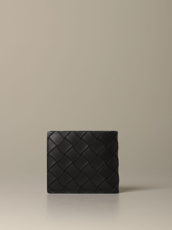 Wallet Bottega Veneta: Bottega Veneta wallet in woven rubber black 3