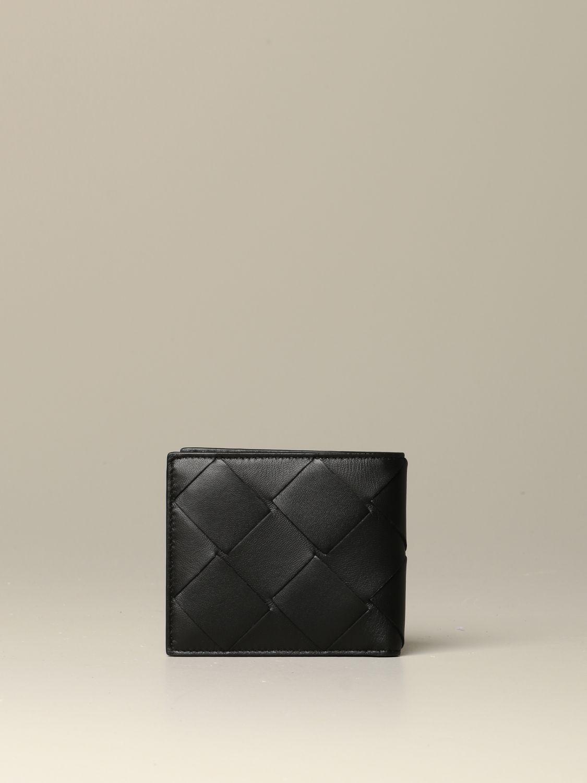 Wallet Bottega Veneta: Bottega Veneta wallet in 3.0 woven leather black 3